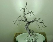 Wire Tree Sculpture Prints - #6 Informal upright tangled Print by Ricks  Tree Art