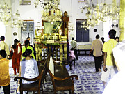 Indian Posters - Inside the historic Jewish Synagogue in Cochin Poster by Ashish Agarwal