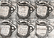 Blockprint Drawings - Java by William Cauthern