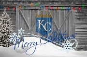 Baseball Bat Metal Prints - Kansas City Royals Metal Print by Joe Hamilton