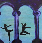 Ballet Dancers Painting Framed Prints - Life Scars Framed Print by Lara Whitmore