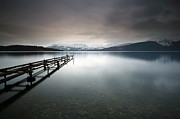 Winter Photos Photo Framed Prints - Loch Lomond Framed Print by Grant Glendinning