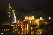 Restaurants Paintings - Madinat Jumeirah by Catf