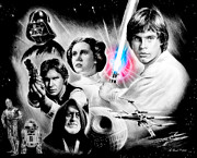 Brave Mixed Media Metal Prints - May the force be with you Metal Print by Andrew Read