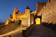 Castle Metal Prints - Medieval Carcassonne Metal Print by Brian Jannsen