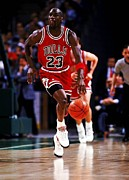 Dunk Photo Metal Prints - Michael Jordan Poster Metal Print by Sanely Great