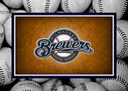 Outfield Posters - Milwaukee Brewers Poster by Joe Hamilton