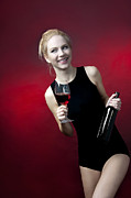 Winetasting Prints - Model holding wine glass  Print by Christin Slavkov