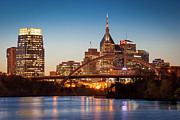 Cumberland River Framed Prints - Nashville Skyline Framed Print by Brian Jannsen