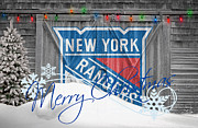 Skating Photos - New York Rangers by Joe Hamilton