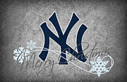 Baseball Bat Metal Prints - New York Yankees Metal Print by Joe Hamilton