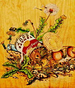 Can Pyrography Prints - One Mans Trash... Print by Robert Jerore