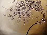 Cherry Blossoms Painting Originals - Purple Blossoms by Tomoko Koyama