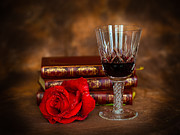Red Wine Prints Prints - Red Rose Print by Mark Llewellyn