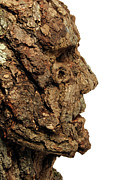 Portrait Art - Revered   A natural portrait bust sculpture by Adam Long by Adam Long