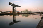 Glasgow Posters - River Clyde Reflections  Poster by Grant Glendinning