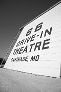 Drive In Theatre Framed Prints - Route 66 Drive-In Theatre Framed Print by Frank Romeo
