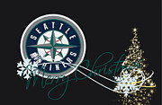 Seattle Greeting Cards Posters - Seattle Mariners Poster by Joe Hamilton