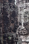 Asien Prints - Smiling Faces of Bayon Print by Joerg Lingnau