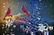 Baseball Bat Posters - St Louis Cardinals Poster by Joe Hamilton