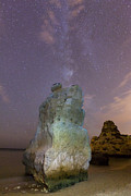 Startrail Framed Prints - Starry Sky at Praia da Marinha Framed Print by Andre Goncalves