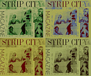 Strip Mixed Media - Strip City Magazine by Frantz Hall