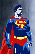 Caricature Posters - Superman  Poster by Mark Ashkenazi