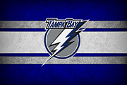 Puck Prints - Tampa Bay Lightning Print by Joe Hamilton