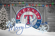 Christmas Doors Framed Prints - Texas Rangers Framed Print by Joe Hamilton