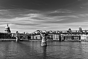 Catherdral Prints - The Millennium Bridge Print by David Pyatt