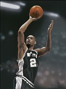 Tim Framed Prints - Tim Duncan Poster Framed Print by Sanely Great