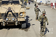 Featured Art - U.s. Army Soldiers Provide Security by Stocktrek Images
