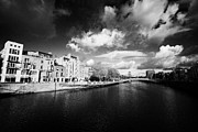 Halfpenny Prints - View Of The River Liffey And Hapenny Bridge Dublin Republic Of Ireland Print by Joe Fox