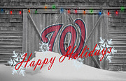 Baseball Glove Prints - Washington Nationals Print by Joe Hamilton