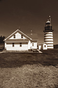 Maine Lighthouses Framed Prints - West Quoddy Lighthouse Framed Print by Skip Willits