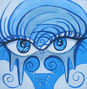 Lady Gaga Blue Posters - Windows 2 the Soul Poster by Annette Jimerson