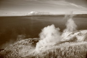 Crystalline Art - Yellowstone Lake and Geysers by Frank Romeo