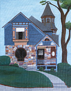 House Portrait Prints - 605 Madison Print by Laurie Kerr