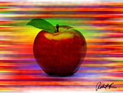 Apple Digital Art Originals - 60x45 print or canvas wrap THE APPLE by Robert R signed prints by Robert R Abstract Art