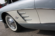 61 Corvette-grey-sidepanel-9241 Print by Gary Gingrich Galleries