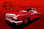 Lowrider Digital Art - 62 Impala by MadMethod Designs