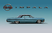 Lowrider Digital Art - 64 Impala SS by Douglas Pittman