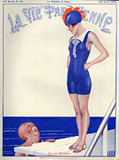 Elderly Drawings - 1920s France La Vie Parisienne Magazine by The Advertising Archives