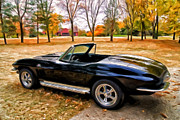 Classic Car Paintings - 66 Corvette Stingray 427 by Michael Pickett