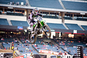 Supercross Framed Prints - 6640 Framed Print by Daniel  Knighton