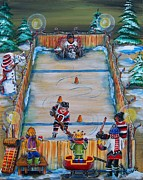 Hockey Painting Posters - 67s Captain in Training Poster by Jill Alexander
