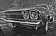 Clubs Photo Framed Prints - 68 Chevelle Framed Print by Cheryl Young