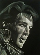 Elvis Painting Prints - 68 Comeback Print by Brian Broadway