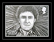 Mccoy Drawings Framed Prints - 6th Doctor Colin Baker Framed Print by Jenny Campbell Brewer