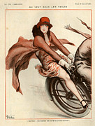 Vallee Prints - 1920s France La Vie Parisienne Print by The Advertising Archives